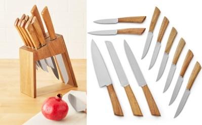 Walmart: Mainstays 12-Piece Acacia Handle Knife Set ONLY $19.95 (Reg $90)