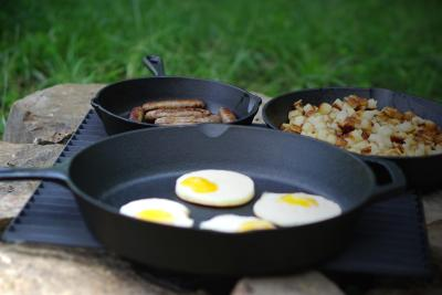 3-Piece Ozark Trail Pre-Seasoned Cast Iron Skillet Set on sale for $19!