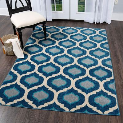 """Amazon : Serena Taira Rug, 3'6""""x5'3"""" Rectangle, Ivory/Navy Blue Just $17.59 W/20% Off Coupon (Reg : $21.99) (As of 1/27/2020 1.46 PM CST)"""