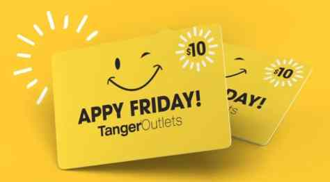 Tanger Outlets | Free $10 Gift Card!