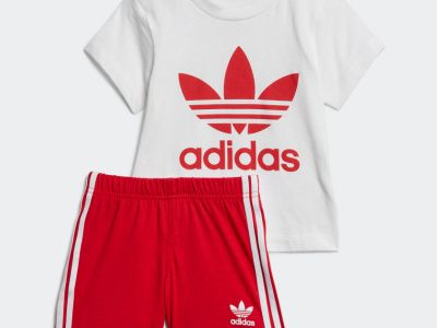 ADIDAS: TREFOIL SHORTS TEE SET A TEE-AND-SHORTS SET MADE FOR TODDLERS, JUST $20 (REG $40)