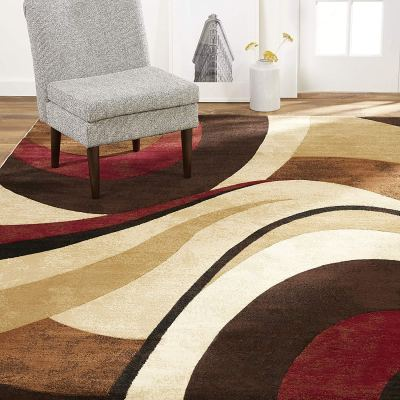 """Amazon : Tribeca Slade Modern Area Rug, Abstract Brown/Red 5'2""""x7'2"""" Just $67.49 W/10% Off Coupon (Reg : $135.99) (As of 1/27/2020 2.05 PM CST)"""