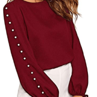 Amazon : Women's Long Sleeve Pearl Drawstring Button Spring Fall Blouse Top Just $9.49 W/Code (Reg : $18.99) (As of 1/26/2020 4.08 PM CST)