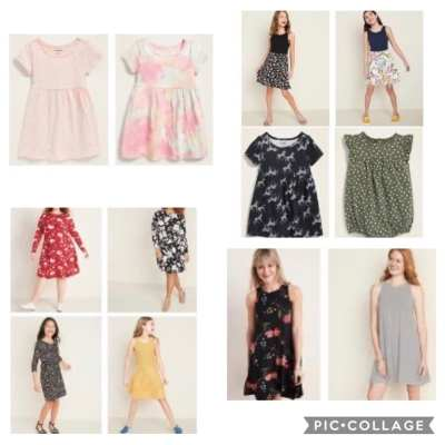 OLD NAVY: Dresses starting at $6 for babies, $8 for girls, and $12 for women - free store pick up!