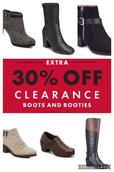 DSW: Get Extra 30% off the clearance price for boots and booties today plus free shipping when you sign up for free rewards account!!!