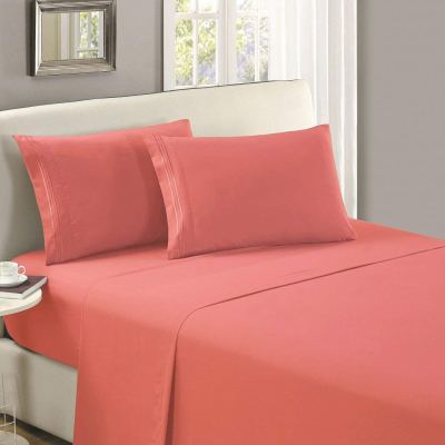 Amazon : Flat Sheet California King Coral Just $3.99 W/Code + Lightening Deal (Reg : $15.97) (As of 2/05/2020 9.340 PM CST)