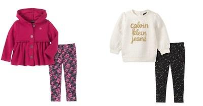 MACY'S: Calvin Klein Little Girls 2-Pc. Logo Fleece Hoodie & Jogger Pants Set $19.23 ($55)