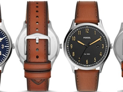 Fossil : Men's Forrester Leather Watches Just $34 + FREE Shipping (Reg : $99)