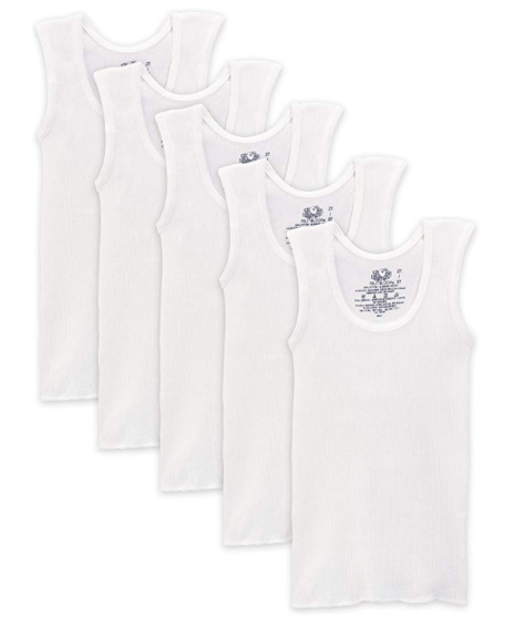 Fruit of the Loom Boys' Cotton Tank Top Undershirt (Multipack) for just $3 (reg:$9.50)