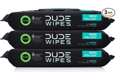 AMAZON: DUDE Wipes Flushable Wet Wipes Dispenser, Just $13.99 3 PACKS OF 48 WIPES