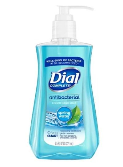 TARGET: Dial Antibacterial Hand Soap - Spring Water 7.5 fl oz, Just $1.49