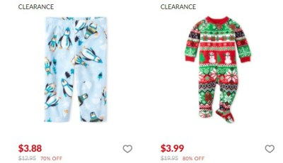 The Children's Place: Score Pjs up to 80% OFF, for a LIMITED TIME