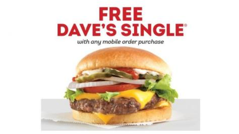 Wendy's: FREE Dave's Single w/ ANY Mobile Order Purchase