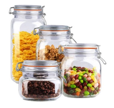 WALMART: Home Basics 4-Piece Glass Canister Set, Clear For $12.86 ($18)