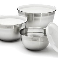 AMAZON: Stainless Steel Mixing Bowls with Lids, Set of 3 – PRICE DROP!!