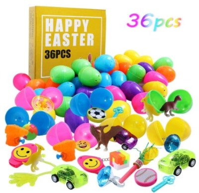 AMAZON: 36pcs Easter Eggs Filled with Novelty Toys – 30% OFF!!!