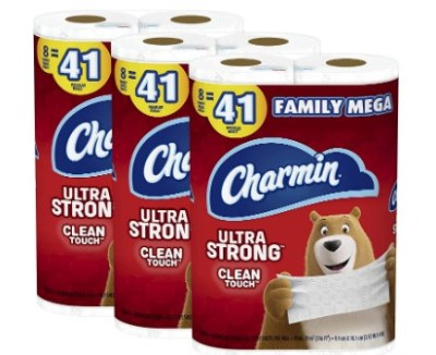 AMAZON: Charmin Ultra Strong Clean Touch Toilet Paper, 24 Family Mega Rolls