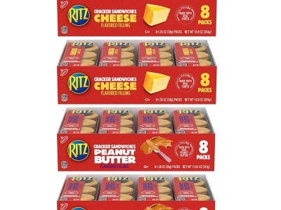 Amazon: 32 Pack RITZ Peanut Butter Sandwich Crackers and Cheese Sandwich Crackers Only $6.40