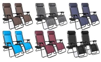 WALMART: Adjustable Zero Gravity Lounge Chairs 2-Set, PRICE DROP!