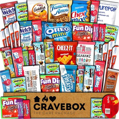 AMAZON: CraveBox Care Package (45 Count) Snacks Food, AS LOW AS $22.91 CHECKOUT VIA SUBSCRIBE & SAVE!