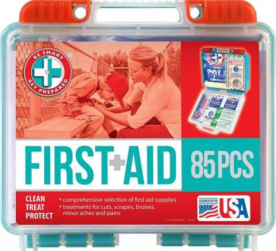 AMAZON: Be Smart Get Prepared 85 Piece First Aid Kit, LIMITED STOCK!!