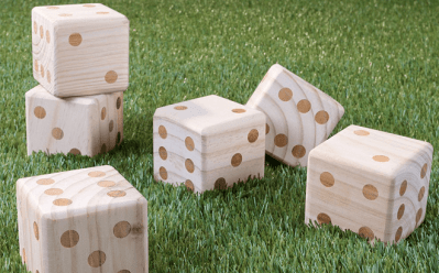 ZULILY: Giant Wood Yard Dice 6-Count for Only $21.99 (Regularly $50)