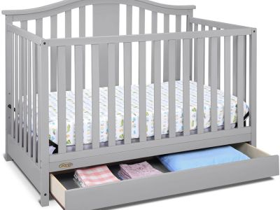 WALMART: Graco Solano 4 in 1 Convertible Crib with Drawer Pebble Gray, $169.99 (Reg $189.00)
