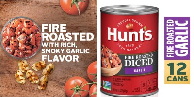 AMAZON: Hunt's fire roasted diced tomatoes with garlic! Great price