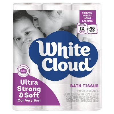 WALMART: White Cloud Ultra Strong & Soft Toilet Paper, 12 Mega Rolls