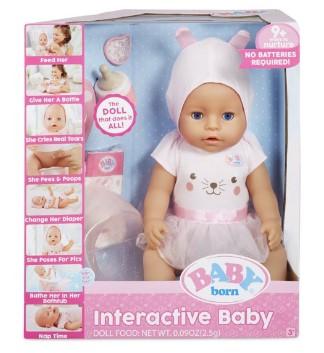 WALMART: SALE! BABY born Interactive Doll Blue Eyes with 9 Ways to Nurture $29.99 (Reg $44.97)