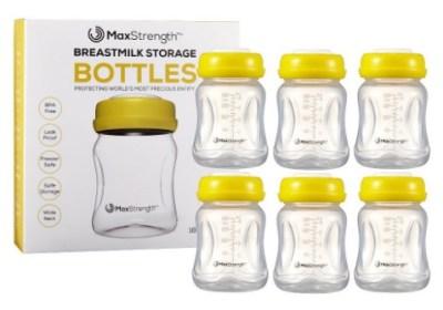 AMAZON: Breastmilk Bottles 6pc Set with Leak Proof Lids – PRICE DROP!!!