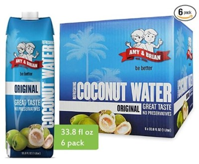 AMAZON: Amy & Brian Refreshing Coconut Water, 1 Liter (Pack of 6)