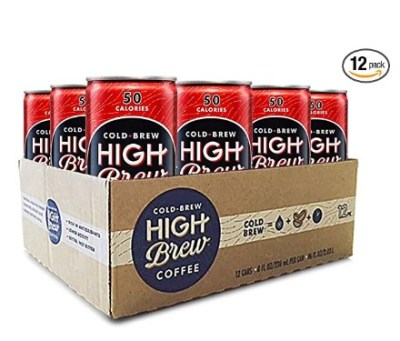 AMAZON: Cold Brew High Brew Coffee - Double Espresso Can, 8 Fl Oz, Pack of 12