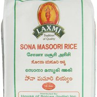 Laxmi All-Natural Sona Masoori (Golden Ivy) Rice, 10 Pounds on stock to buy