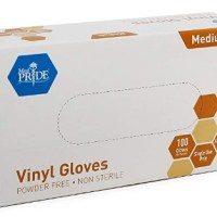 AMAZON: Medpride Vinyl Gloves| Medium Box of 100
