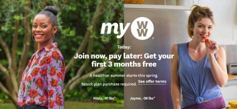 Join Weight Watchers Now, Get THREE Months FREE