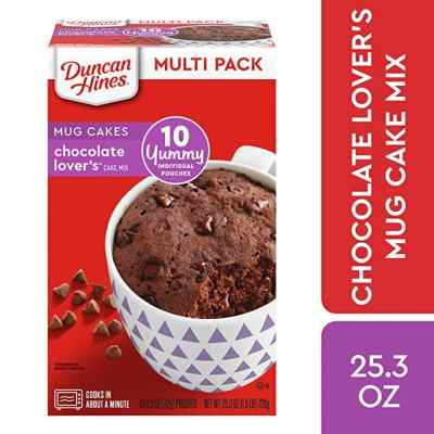 AMAZON: 10pack Duncan Hines Mug Cakes, Chocolate Lovers Cake Mix, Checkout With Sub&Save!