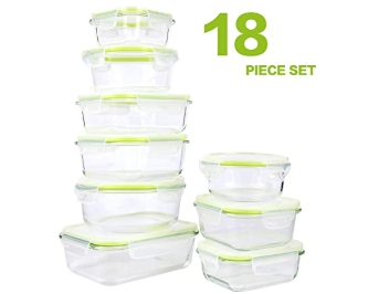 AMAZON: 18 Piece Glass Food Storage Containers with Locking Lids for $29.39 (Reg. Price $48.99)