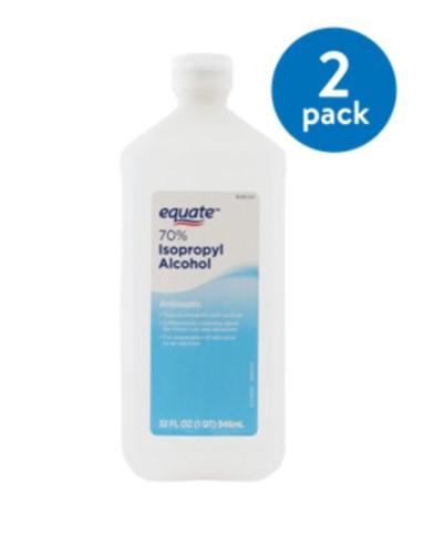 WALMART: (2 Pack) Equate 70% Isopropyl Alcohol, 32 Oz