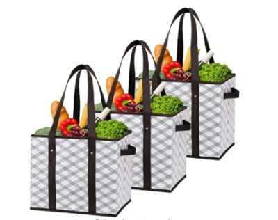 AMAZON: 3 Pack Water Resistant Durable Shopping Bags Boxes for $19.99 Shipped!