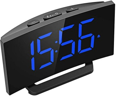 """AMAZON: Mpow 5"""" Curved LED Digital Alarm Clock For $13.29 + Free Prime Shipping"""