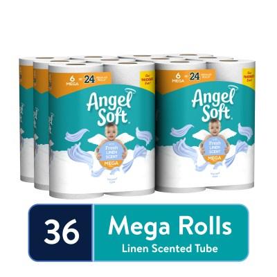 WALMART: Angel Soft Toilet Paper, Linen, 36 Mega Rolls (= 144 Regular Rolls)