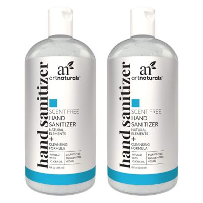 AMAZON: Artnaturals Alcohol Based Hand Sanitizer Gel (2 Pack x 8 Fl Oz / 220ml)