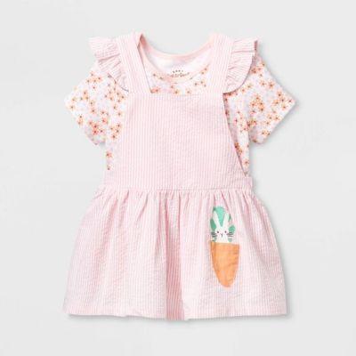 TARGET: Baby Girls' Short Sleeve Skirtall Top & Bottom Set (Newborn) For $5.59 (Reg. $13.99) + Free Shipping On Orders $35+