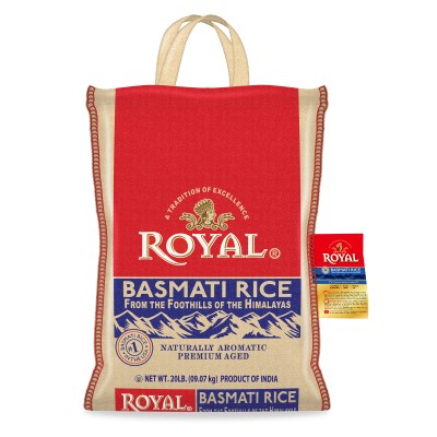 WALMART: Royal Basmati Rice, 20 Pound Bag $17.84
