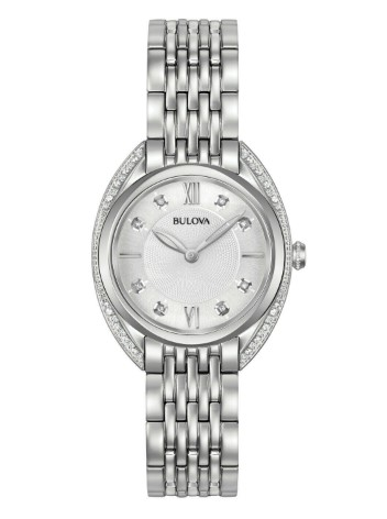 eBay: Bulova Women's Quartz Diamond Accent Markers Silver-Tone 30mm Watch $129.99 (REG. $525.00)