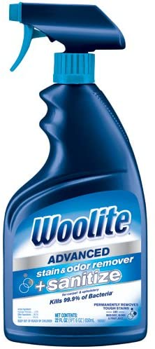 AMAZON: Bissell Woolite Advanced Stain & Odor Remover + Sanitize, 22floz