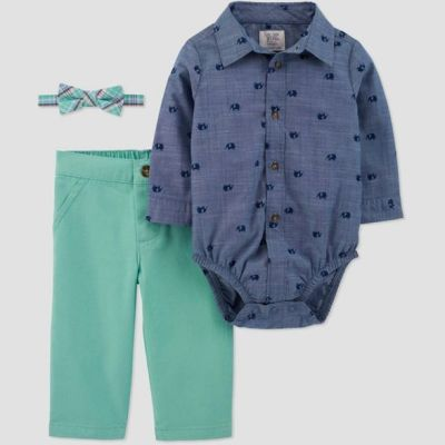 TARGET: Baby Boys' Shifley Chambray Set-Just One You Made By Carter's For $16.79 (Reg. $20.99)