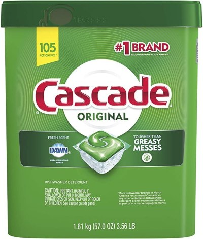 AMAZON: 105-Count Cascade ActionPacs Dishwasher Detergent For $17.65 + Free Prime Shipping