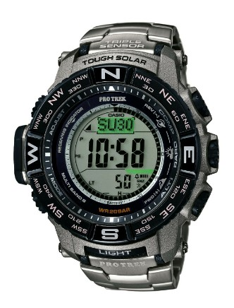eBay: Casio Pro Trek Men's Tough Solar Silver-Tone Titanium Band 56mm Watch $179.99 (REG. $500)
